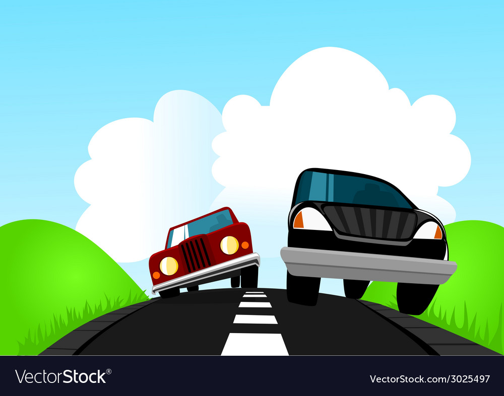 On the road vector | Price: 1 Credit (USD $1)