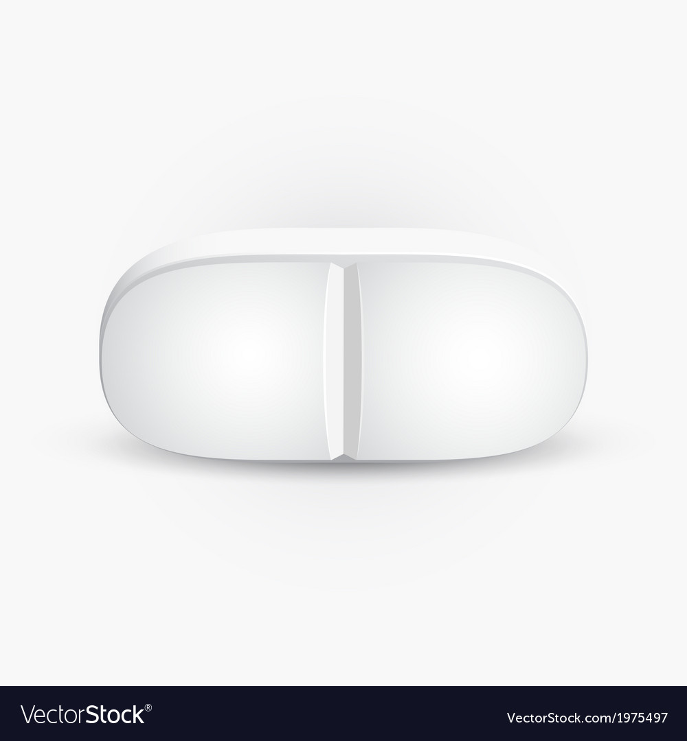 Pill icon isolated on white background vector | Price: 1 Credit (USD $1)