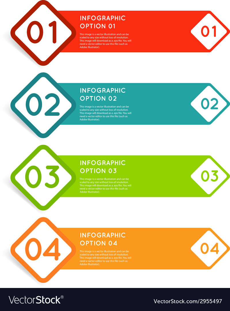 Rounded squares infographics options banner vector | Price: 1 Credit (USD $1)