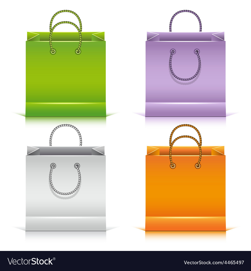 Set of the colorful paper shopping bags vector | Price: 3 Credit (USD $3)