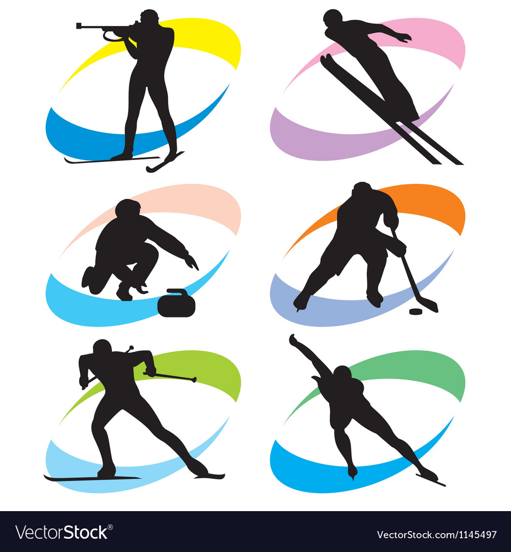 Set winter sport icons vector | Price: 1 Credit (USD $1)