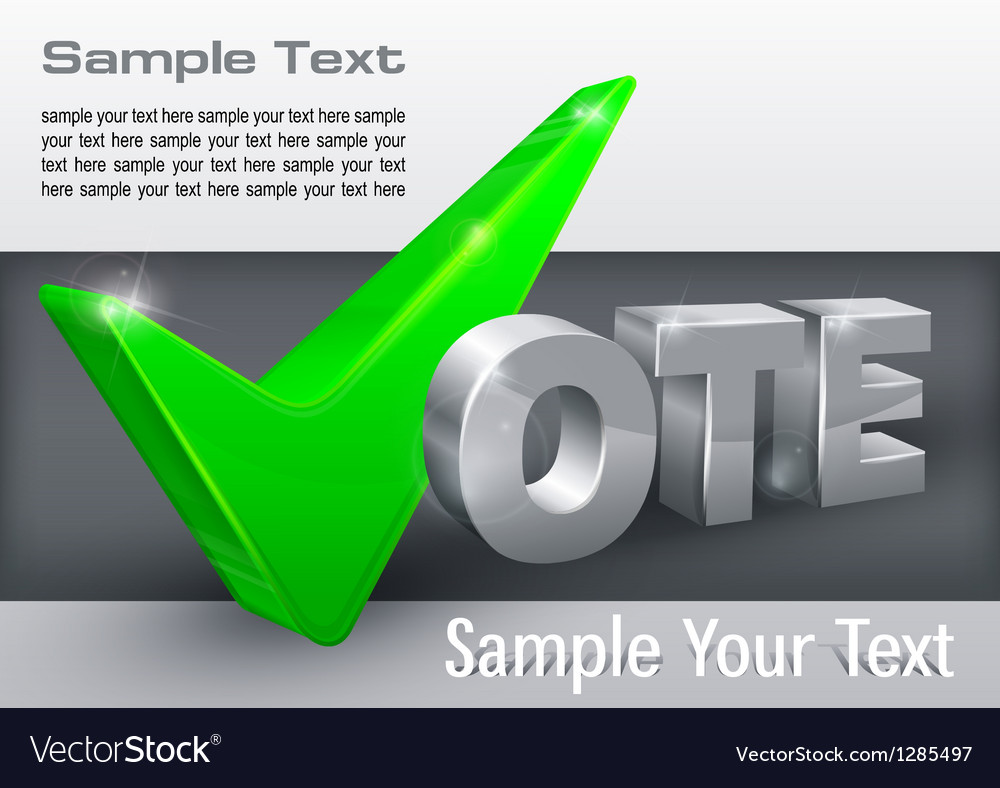Vote check mark on grey vector | Price: 1 Credit (USD $1)