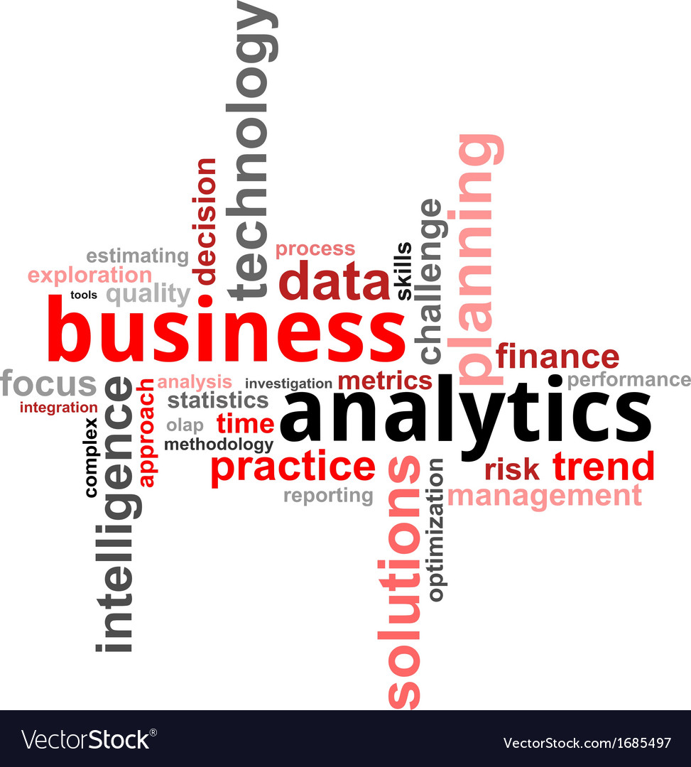 Word cloud business analytics vector | Price: 1 Credit (USD $1)
