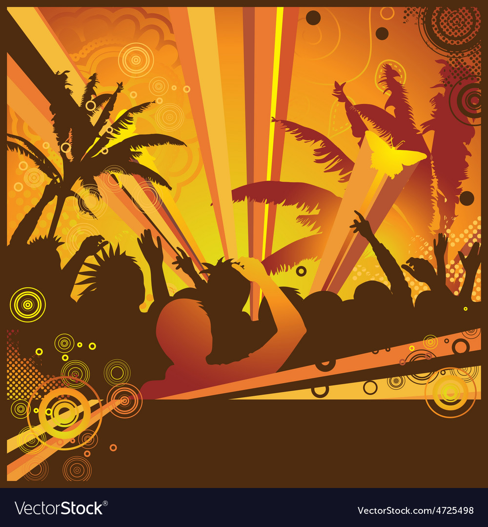 A hot summer party flyer vector | Price: 1 Credit (USD $1)