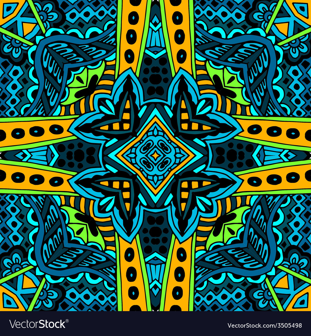 Abstract seamless pattern ornamental vector | Price: 1 Credit (USD $1)
