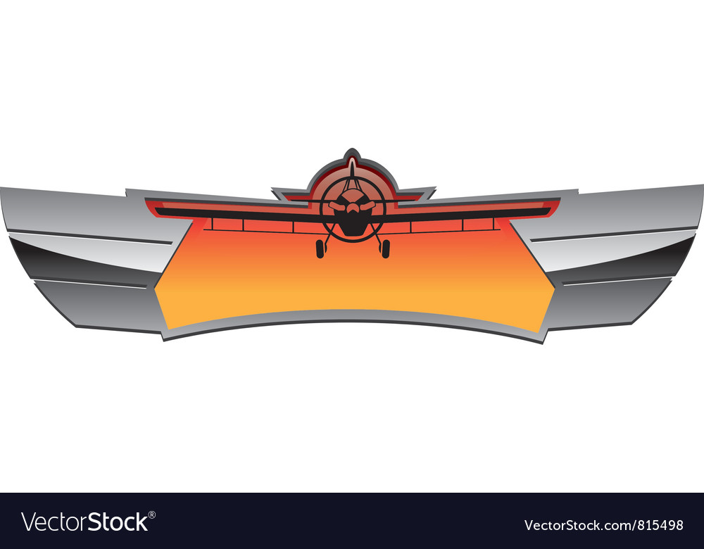 Aviation badge vector | Price: 1 Credit (USD $1)