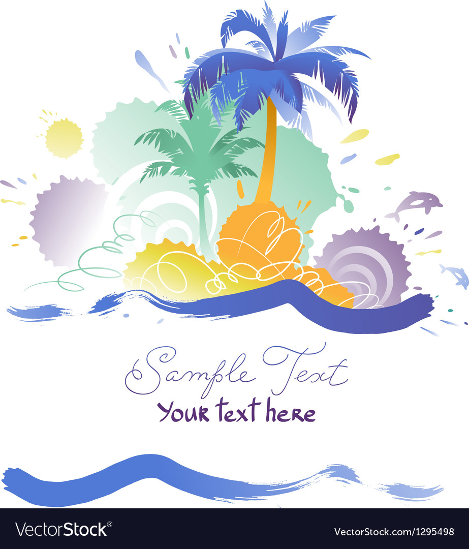 Background with tropical beach vector | Price: 1 Credit (USD $1)