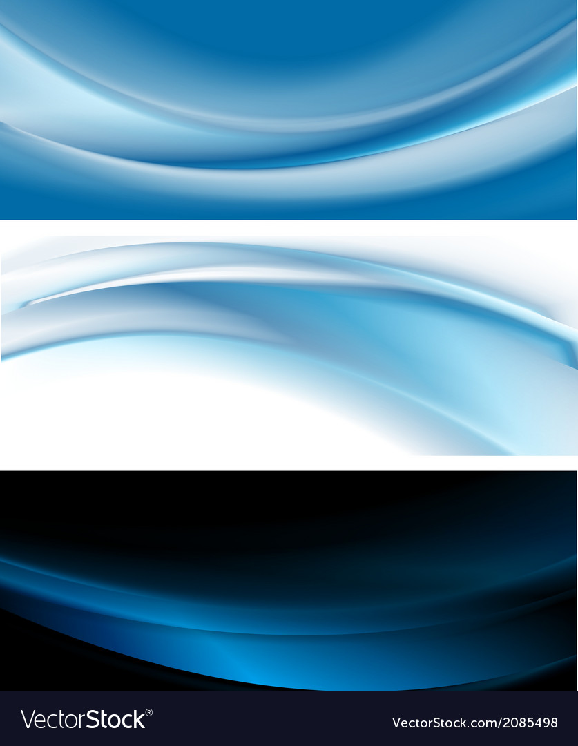 Bright blue banners vector | Price: 1 Credit (USD $1)