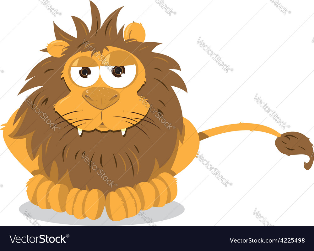 Lion sitting vector