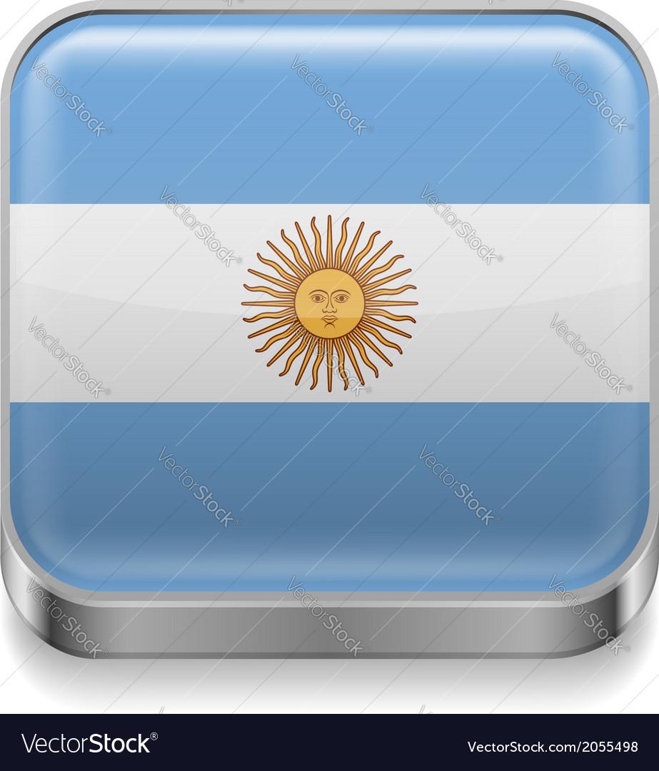 Metal icon of argentina vector | Price: 1 Credit (USD $1)