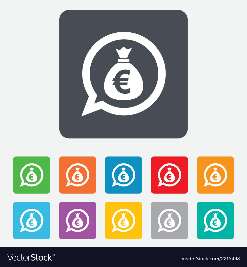 Money bag sign icon euro eur currency vector   Price: 1 Credit (USD $1)