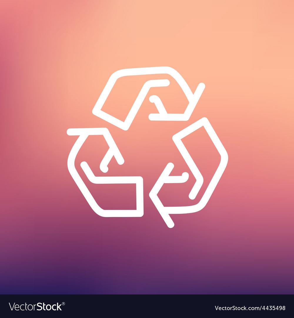 Recycle symbol thin line icon vector | Price: 1 Credit (USD $1)