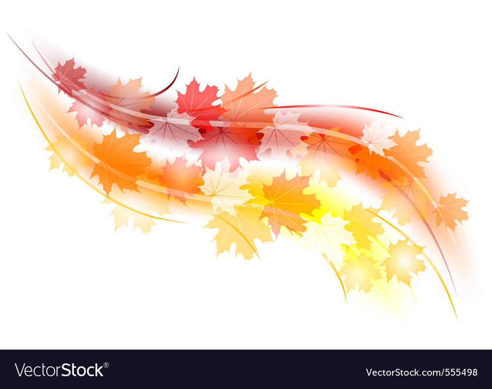 Red and orange autumn shape vector | Price: 1 Credit (USD $1)