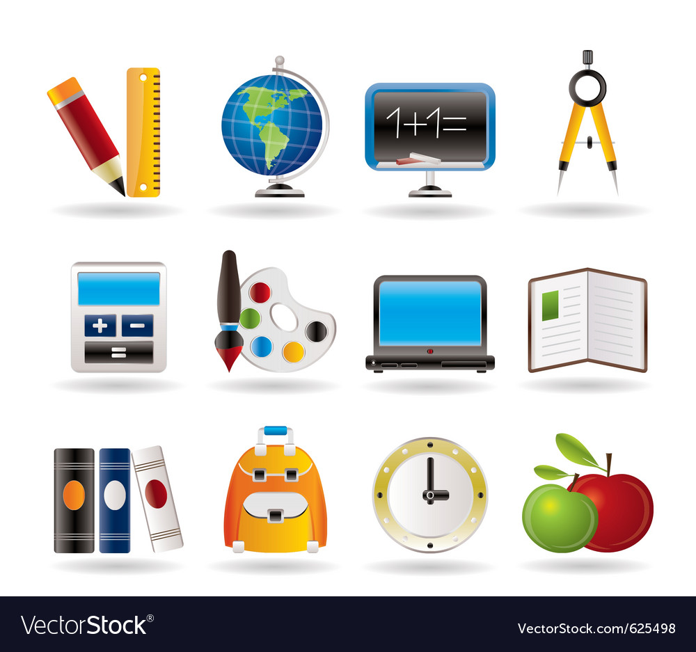 School and education icons vector | Price: 3 Credit (USD $3)