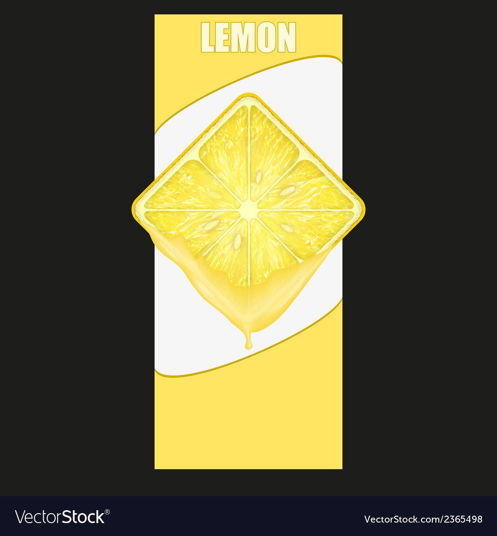 Vertical banner of lemon square slice space for vector | Price: 1 Credit (USD $1)