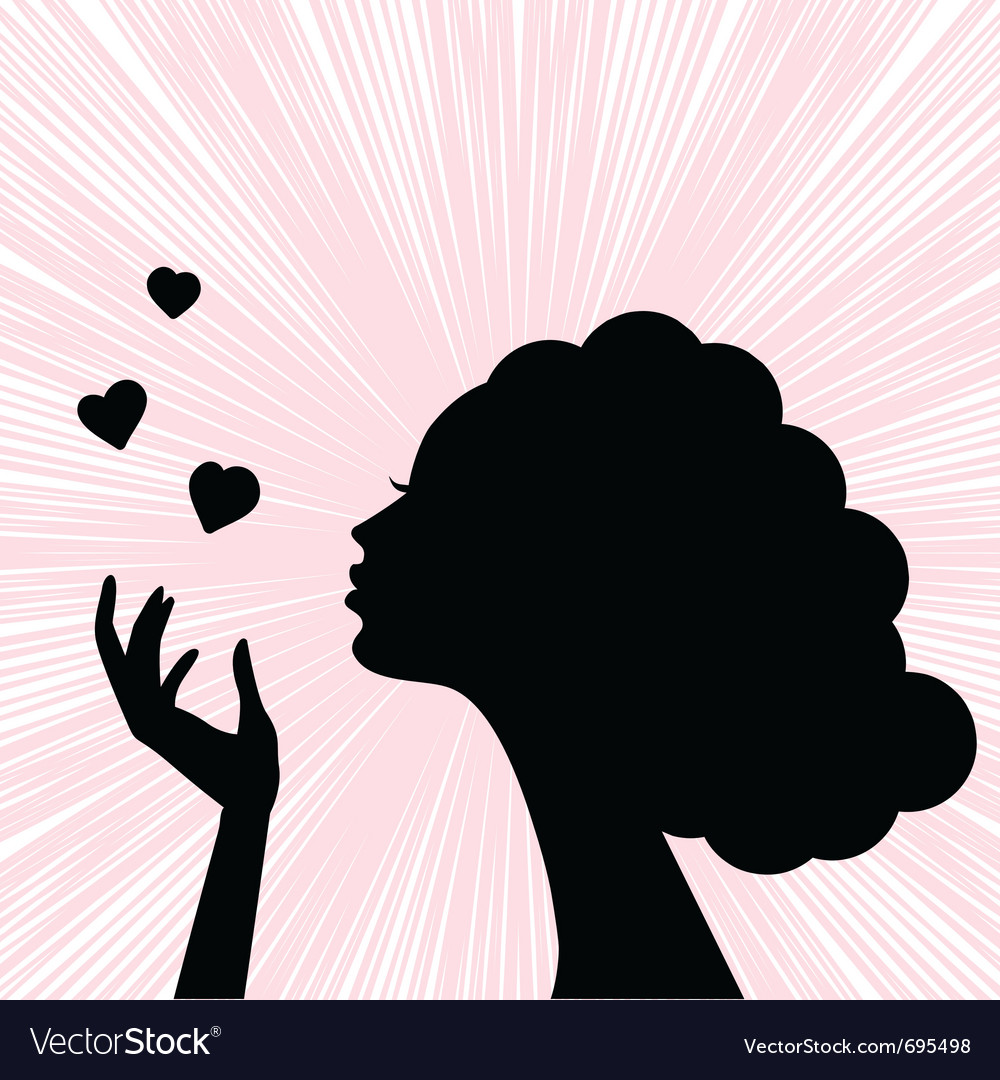Womans face silhouette vector | Price: 1 Credit (USD $1)