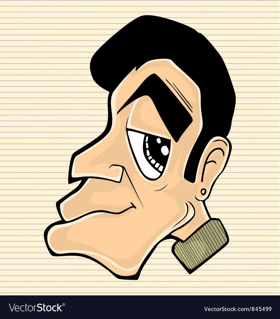 Character man head vector | Price: 1 Credit (USD $1)