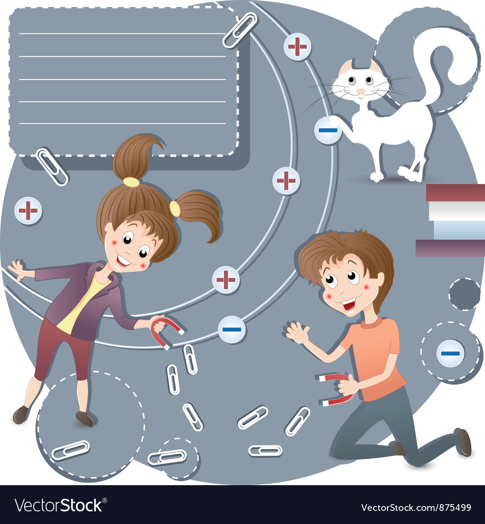 Children in the classroom physics vector   Price: 1 Credit (USD $1)