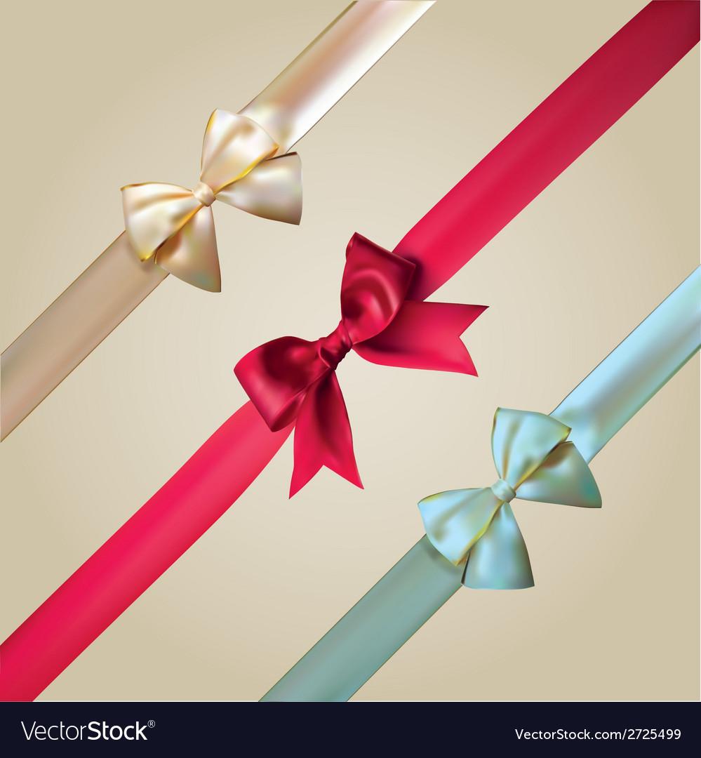 Corner ribbons and bows set vector | Price: 1 Credit (USD $1)
