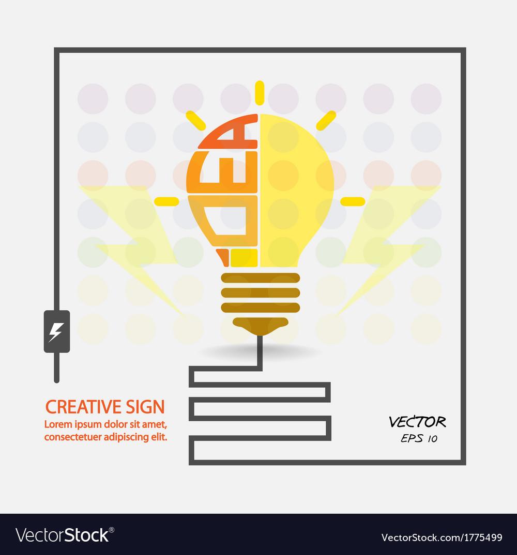 Creative bulb vector   Price: 1 Credit (USD $1)