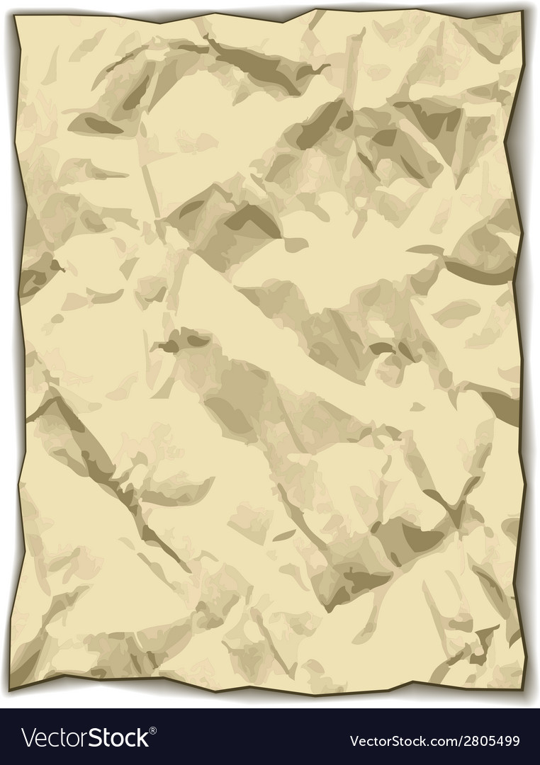 Crumpled yellowed paper vector | Price: 1 Credit (USD $1)