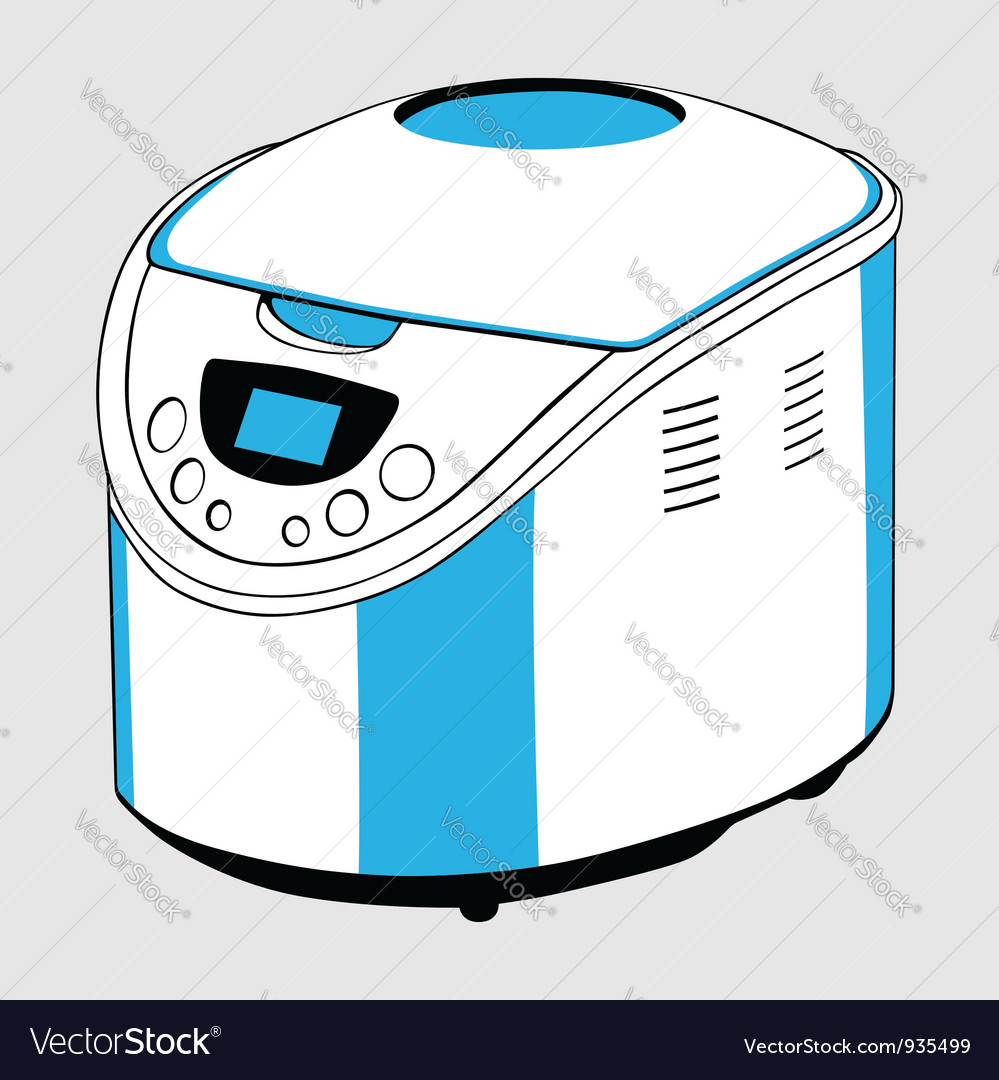 Electric bread cooker vector | Price: 1 Credit (USD $1)