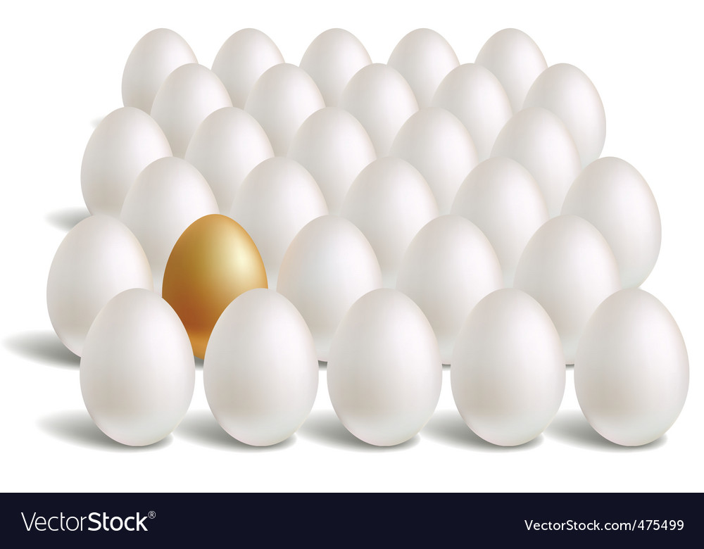Gold eggs vector | Price: 3 Credit (USD $3)