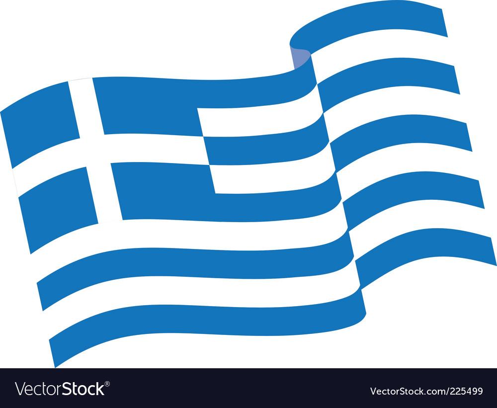 Greek flag vector | Price: 1 Credit (USD $1)