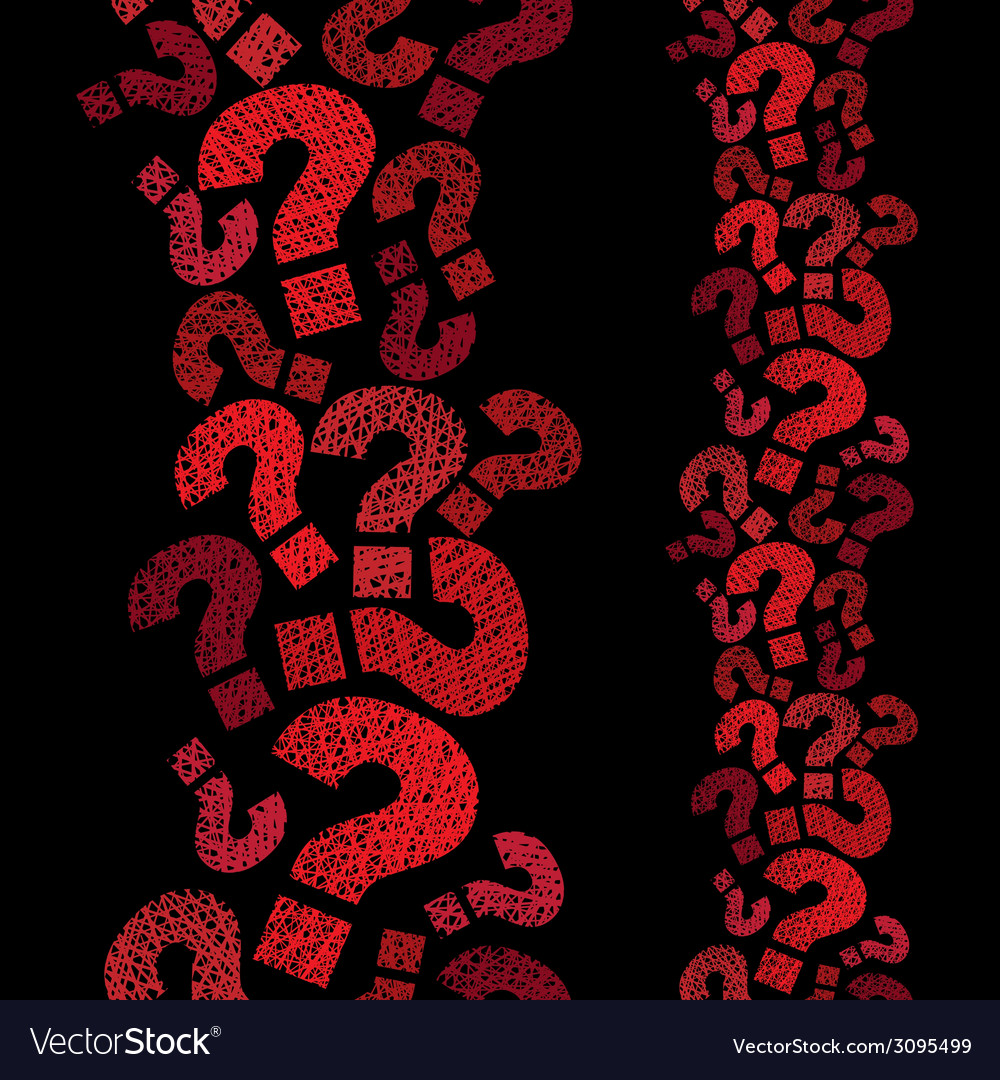 Question marks seamless pattern vertical vector | Price: 1 Credit (USD $1)