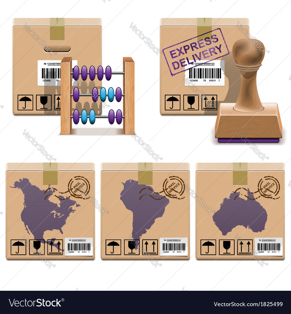 Shipment icons set 26 vector | Price: 1 Credit (USD $1)