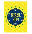 Round grunge label - brazil 2014 vector