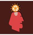 Renewable idea in human head vector