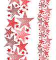 Red stars seamless pattern vertical composition vector