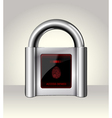 Closed padlock with touch screen vector
