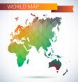 Eastern hemisphere globe bright map vector