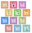 Smile avatar icon sticker emotion valentines face vector
