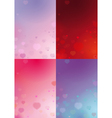 Four valentines backgrounds vector