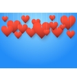 Background beautiful red hearts vector