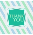 Thank you note on the striped background vector