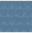 Embroidered hearts on denim seamless pattern vector