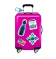 Travel suitcase vector