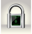 Opened padlock with touch screen vector