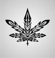 Tribal marijuana leaf vector