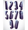 3d tall condensed numbers set vector