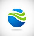 Ecology water globe abstract logo vector