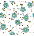 Blue flowers seamless pattern vector