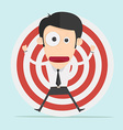Businessman and target concept vector