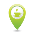 Cafe icon green map pointer vector