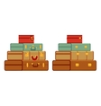 Travelers suitcases vector