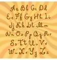Doodle sweet chocolate font vector
